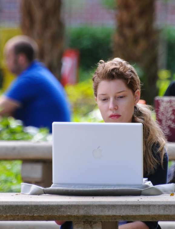 Image of student working on their computer